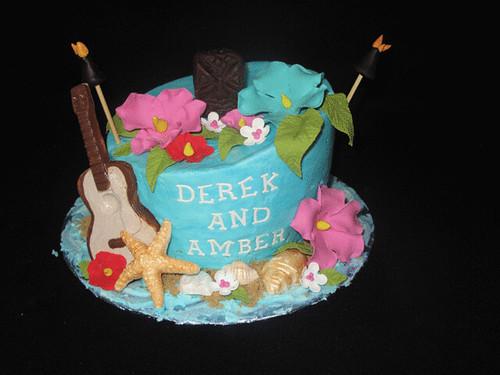 luau bridal shower cake by christies cakes