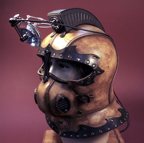 Steampunk Helmet with Lamp | by Tom Banwell