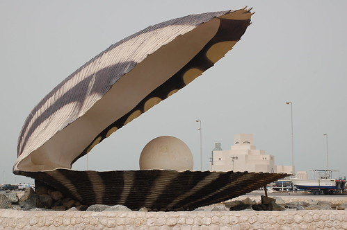 Ugly pearl statue in Doha | by whiteafrican