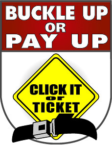 buckle up or pay up, click it or ticket logo | michigan