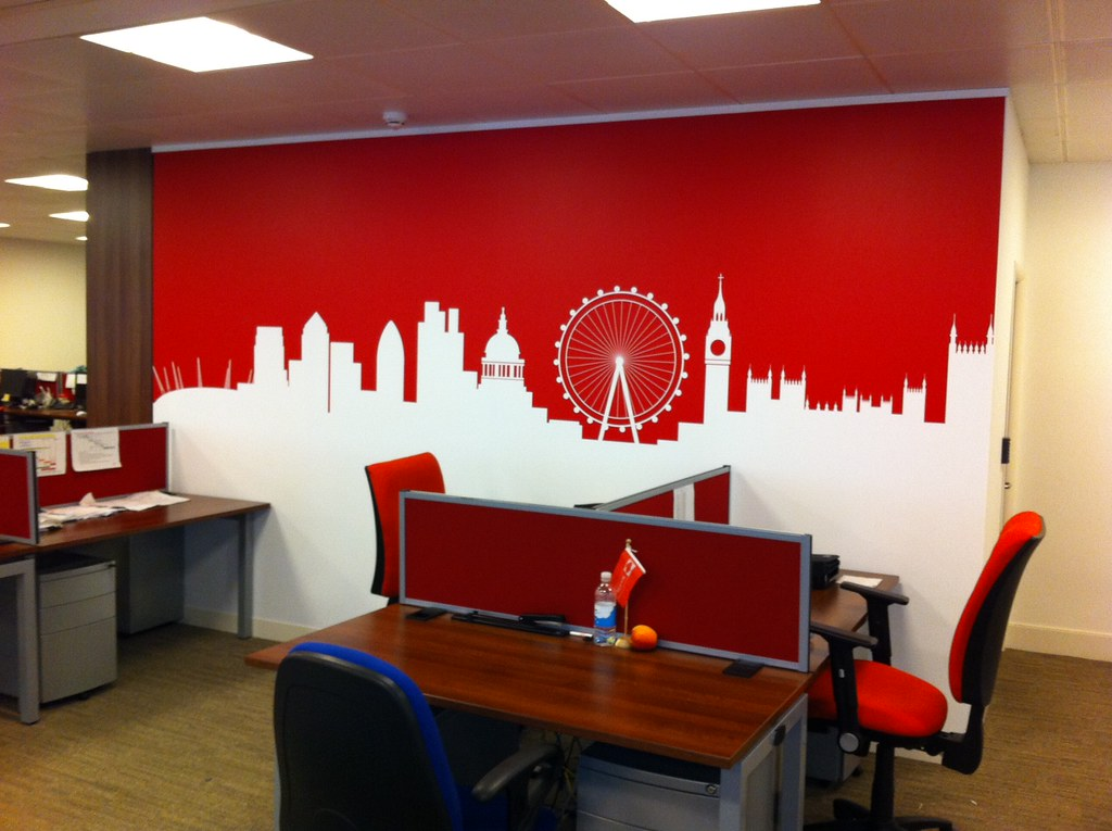 ... Onward Display   Cut Vinyl On Interior Office Wall | By Onward Display