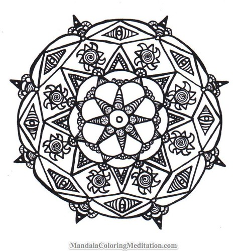 mandala coloring pages printable black white coloring pages flickr