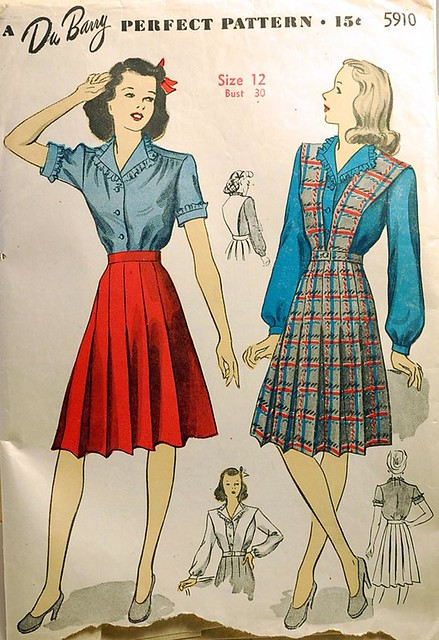 1940s vintage sewing pattern skirt and blouse | wondertrading | Flickr