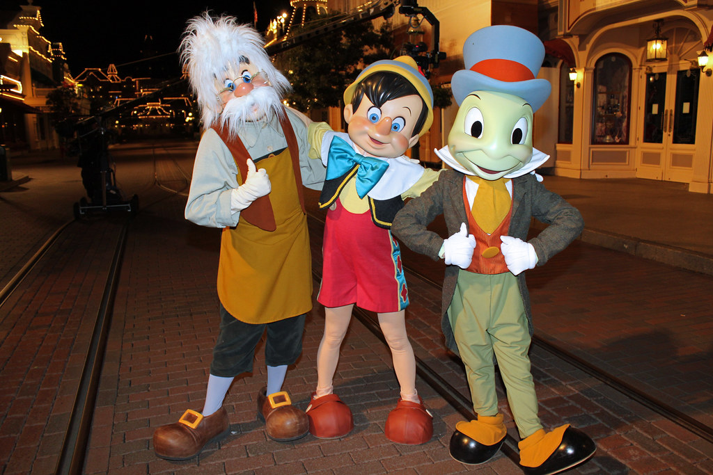 Geppetto Pinocchio and Jiminy Cricket At a very special M Flickr