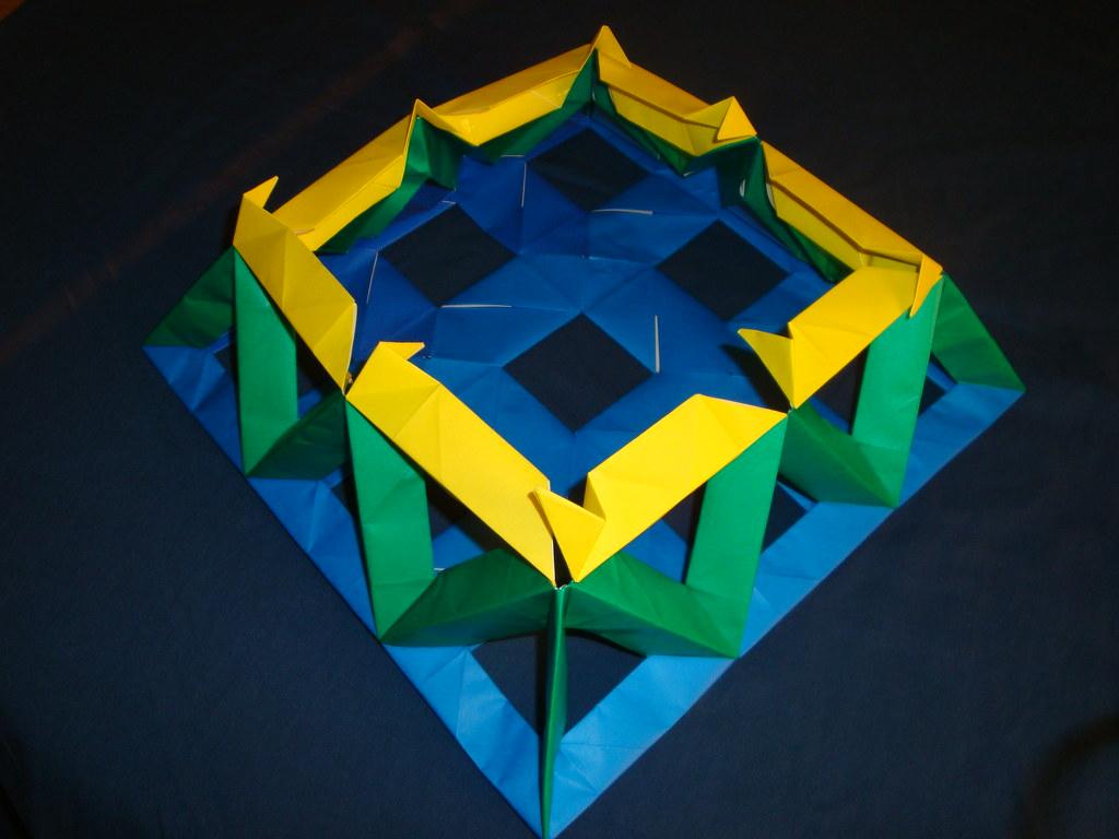 Open Frame Unit 3x3 Pyramid 1 Modular Origami