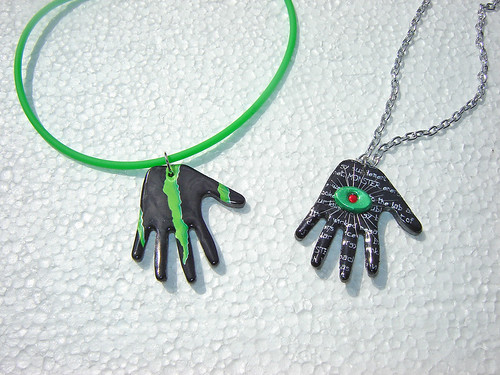 Duo of Monster Hands ~ Recycled Aluminum Cans | by Urban Woodswalker