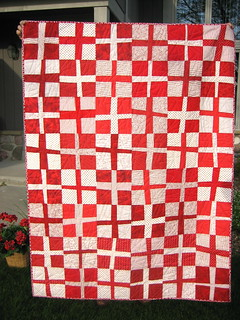 Red and White Cross Quilt | by mamacjt