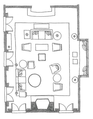 living room salon floor plan | La Vie En Persimmon | Flickr