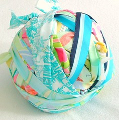mixed fabric and ribbon yarn | by heatherknitz