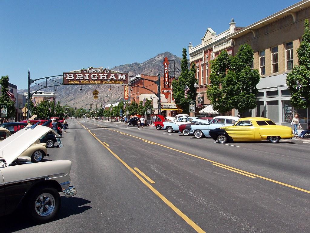 2007 55 1950s Cars At Car Show At Brigham Heritage And Art