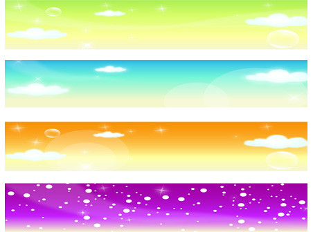 Free Vector Banners | 4 Free Vector Banners (spring, summer,… | Flickr