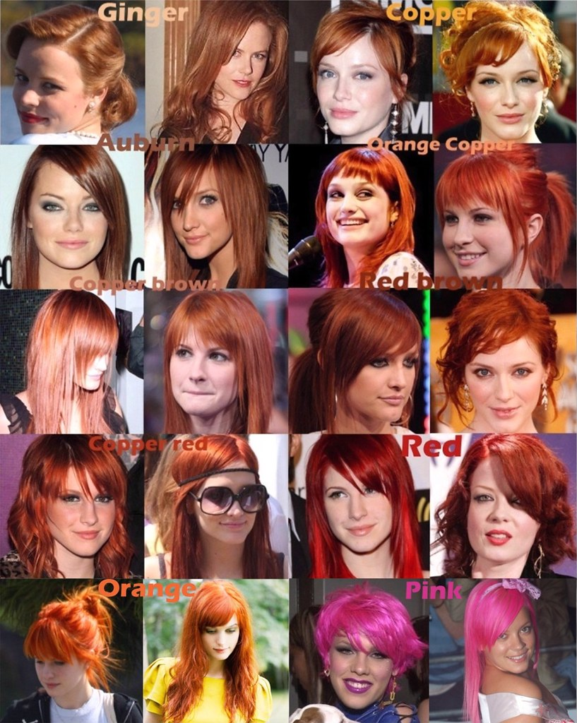 Red Orange Pink Hair Color Chart Raychylle Flickr