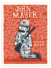 John Mayer Winter tour Posters 2010 | by tad carpenter