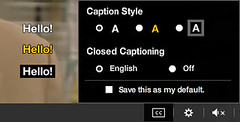 Closed Caption Display | by Hulu Galleries