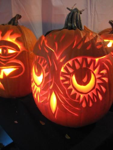 Carved pumpkin owl claire h flickr