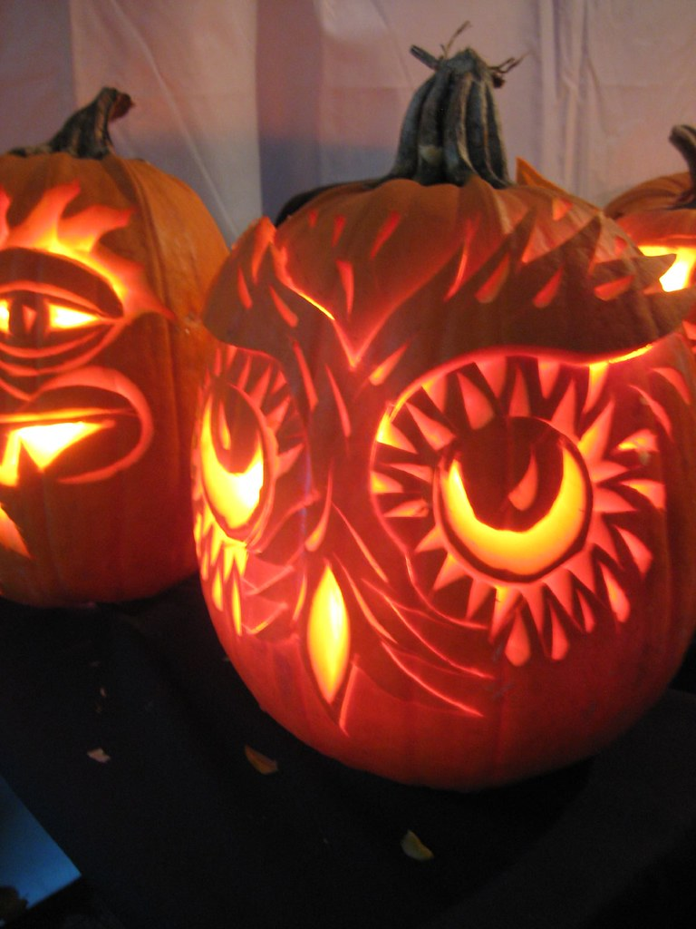 Carved pumpkin owl claire h flickr