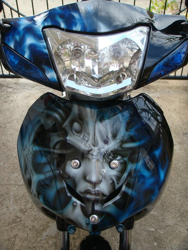 honda wave 100 alien design 8 | AIRGUDZ DESIGNWORKS CUSTOM A… | Flickr for Motor Honda Wave 100  555kxo