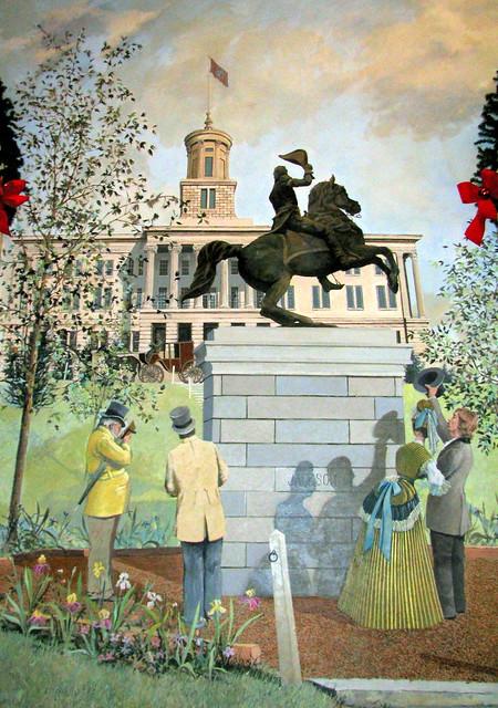 Opryland Ballroom Mural 4: Jackson Statue & Capitol