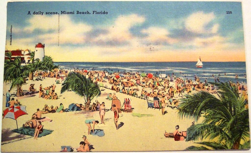 Favorite Vintage Postcard - Miami Beach, Florida   Dave   Flickr UH22