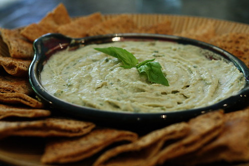 White Bean Hummus with Fresh Thyme and Basil | by prideandvegudice