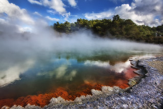 'A Dip Anyone?' New Zealand, Waiotapu, Champagne Pool | by WanderingtheWorld (www.ChrisFord.com)