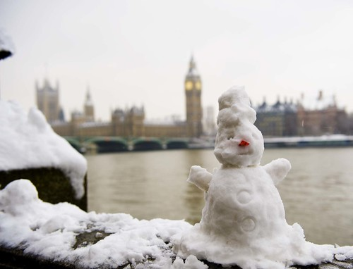 Snow man in London 2009 | by anniemullinsuk