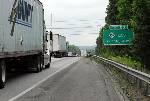 Deteriorated Shoulder on I-85 North at Bridge over Railroad Tracks | by NCDOTcommunications