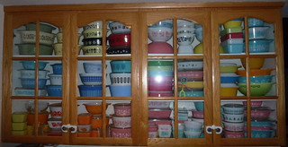 Lynn's main Pyrex collection & display. | by rapunzelbabe