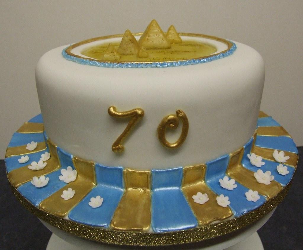 Egyptian Pyramids 70th Birthday Cake 70th Birthday Cake Fo Flickr