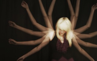 6x exposure of me, in photography. Selfportrait. | by Laurenrawr