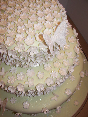 Blossom and Butterfly Wedding Cake | by sarah's bakery