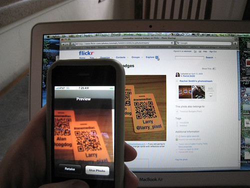 Grabbing Larry's QR code | by alumroot