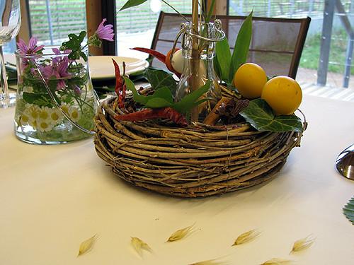 Decoration Table Avec Plumes