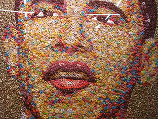 Cuz the world needs more Obamart. This one, made out of cereal. | by C-Monster