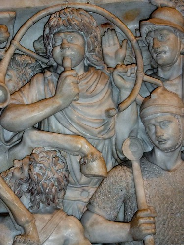 Sarcophagus depicting a battle scene at The State Hermitage Museum, St Petersburg