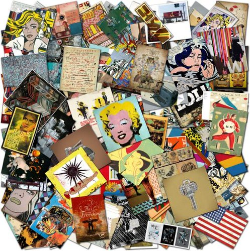 Professional Screeding Pop And Painting Designs Works: Pop Art Is Alive: Classics And Modern Artworks Collage