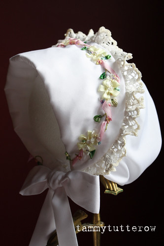 Silk Ribbon Embroidery On Heirloom Bonnet Here Are A Few S Flickr