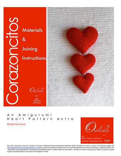 Corazoncitos materials and joining instructions page 1 | by *mia*