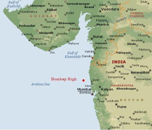 Bombay high map of western india showing ongcs bombay hi bombay high by ngkabra bombay high by ngkabra gumiabroncs Gallery