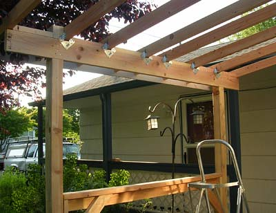 porch roof framing | The basic framework of the new front po… | Flickr