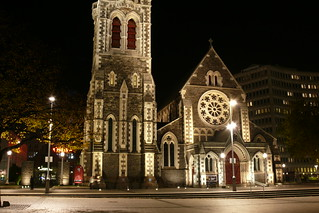 Cathedral square @ night, Christchurch, New Zealand | by _Nathan_W_