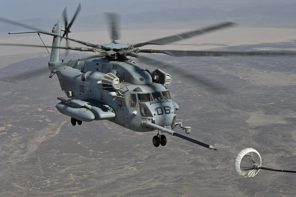 Sea Stallion CH 53E Helicopter Mid Air Refueling Accident cuts ...
