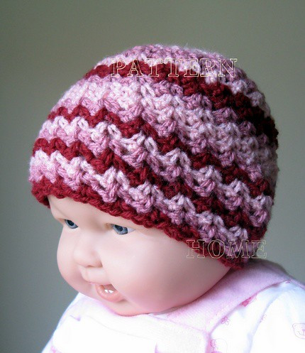 ... PDF crochet pattern Scrap Yarn Crochet STRIPES HAT  93de1bc5f66