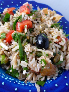 Brown Rice and Smoked Mackerel Salad | by Girl Interrupted Eating