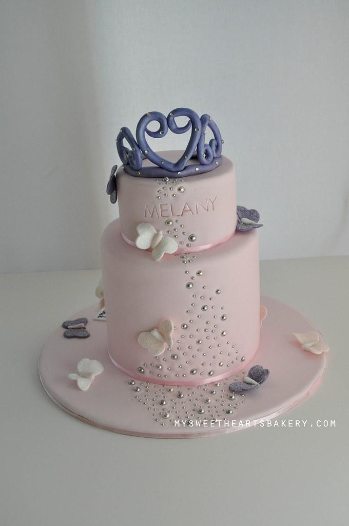 Princess Butterfly Birthday Cake Mysweetheartsbakeryc Flickr
