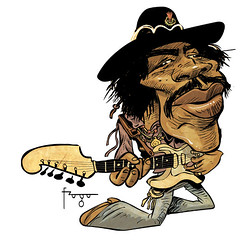 Quick Jimi Hendrix  caricature | by Fragadesenhos