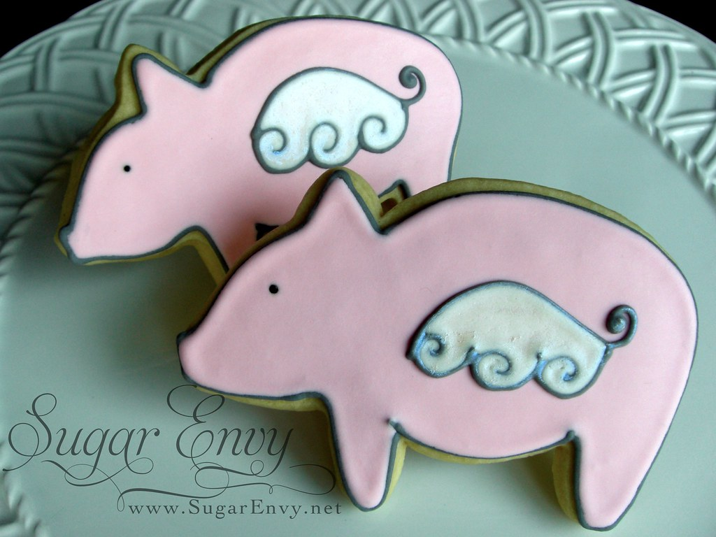 Flying Pigs Custom Decorated Sugar Cookies For The Annual Flickr