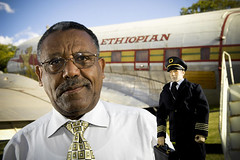 Stefan the Pilot with Ethiopian Airlines CEO Girma Wake | by Flightglobal.com