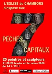 7 PECHES CAPITAUX exposition CHAMBORS : feuilleton en direct