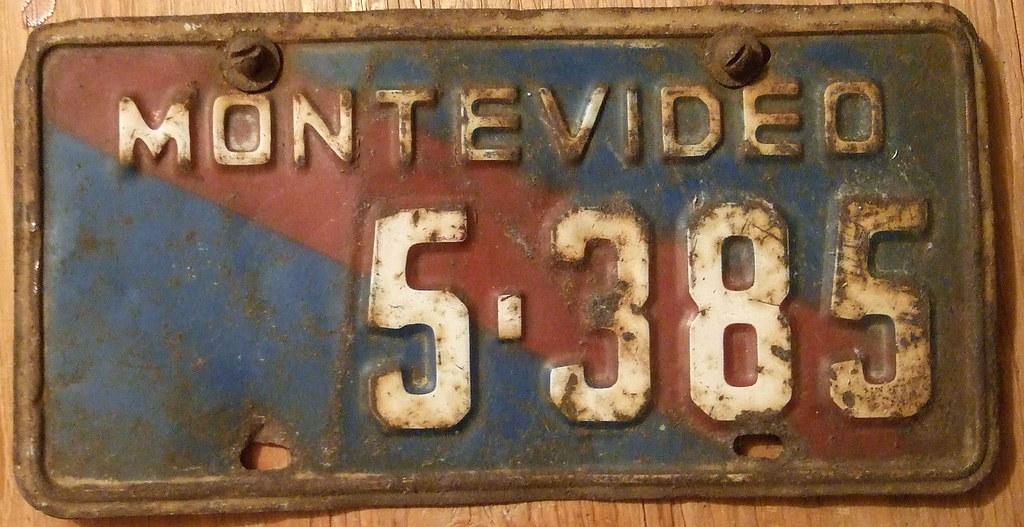 URUGUAY, MONTEVIDEO 1970\'S PUBLIC TRANSPORT plate | Red stri… | Flickr